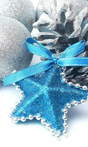 New Year Blue Lights