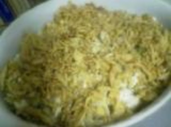 To the mushroom soup mixture add the chicken mixture, the broccoli, and the noodles....