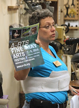 Photo: Ellen displays a flier for a recent Arts Festival held in Rockville and wonders if that's not the kind of thing MCW could get involved with in the future.  We'll see...