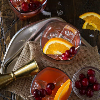 Cranberry Whiskey Sours.