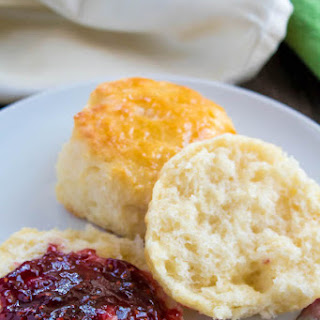 Perfectly Flaky Buttermilk Biscuits.