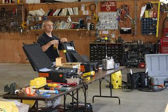 Photo: HAZMAT Manager Polidoro discusses detection of Hazardous Materials