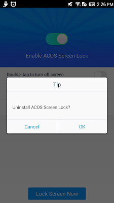 ACOS Screen Lock - screenshot