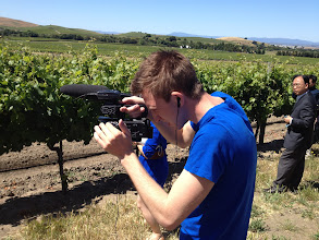 Photo: Filming a wine tour