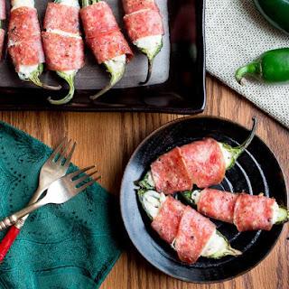 Baked Cheesy Salami Wrapped JalapeñOs Recipe