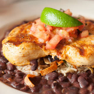 Quick Chicken Dish with Black Beans and Rice.