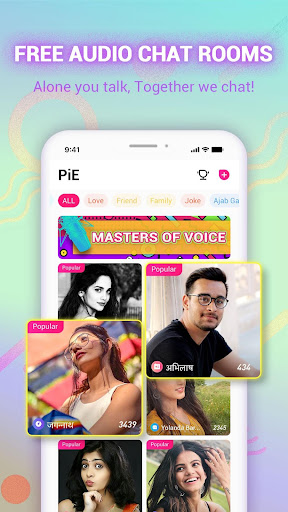 PiE - Free Voice Chat Rooms, Live FM Radio India 2.12.2 screenshots 1