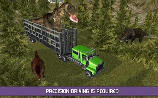 怒っている恐竜動物園トランスポート