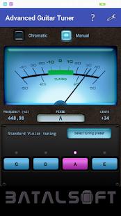 Advanced Tuner (for guitar, violin, bass, ukulele) - náhled