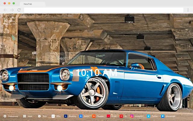 Sports car new tab pop car HD wallpaper theme