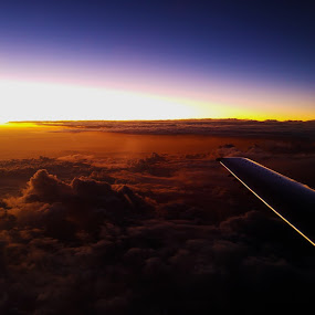 38000 Feet by Reon Rich - Landscapes Sunsets & Sunrises ( clouds, embraer, altitude, sunset, jet,  )