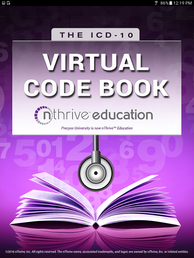 ICD-10 Virtual Code Book- screenshot