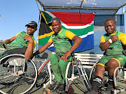 Lucas Sithole, Danny Mohlamonyane  and Donald Ramphadi are first African team to clinch a medal at the BNP Paribas./ Wheelchair Tennis South Africa