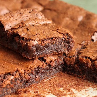 Deep Dark Chocolate Fudge Brownies.