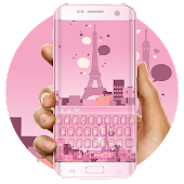 Pink Paris dream keyboard