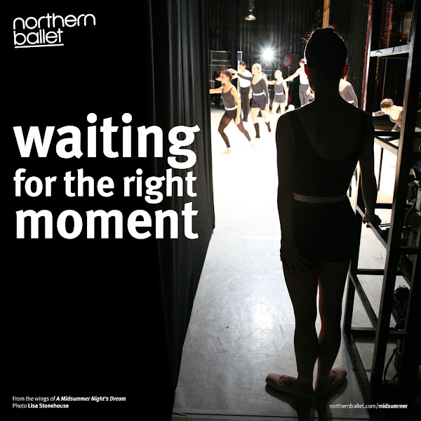 Photo: Waiting for the Right Moment - Northern Ballet dancers in A Midsummer Night's Dream. Photo Lisa Stonehouse, 2008. http://northernballet.com/midsummer #ballet   #dance   #backstage
