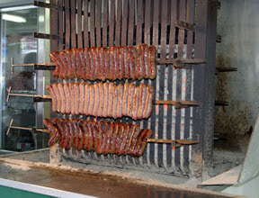 Photo: Italian Sausage on Charcoal vertical grilling  stand