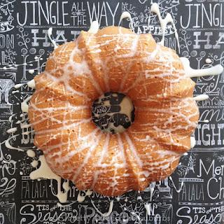 Eggnog Bundt Cake with Eggnog Sugar Glaze.