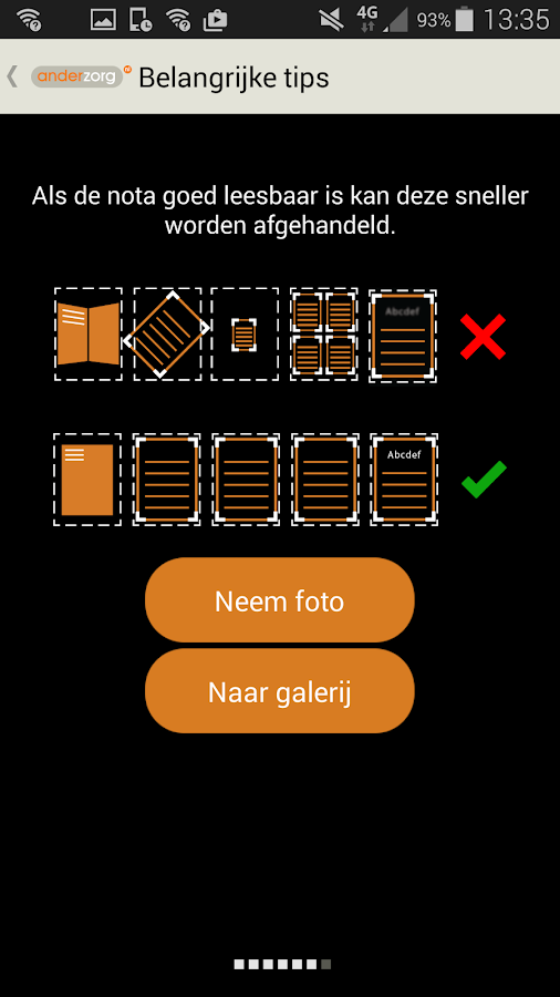 Anderzorg Declaratie-App - screenshot