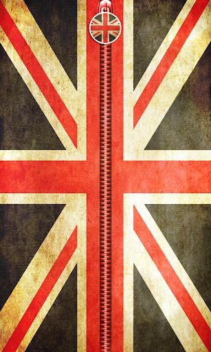 UK Flag Zipper UnLock