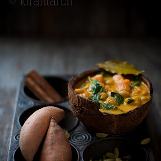 Sweet Potato, Chickpeas & Spinach Curry.