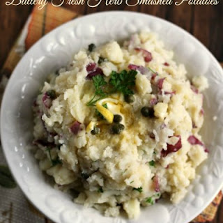 Buttery Fresh Herb Smashed Potatoes