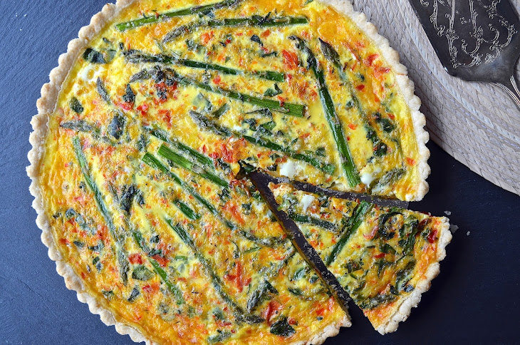 Asparagus Red Pepper Quiche Recipe