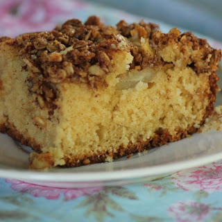 Pear and Sour Cream Coffee Cake