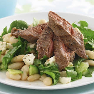 Lamb Salad with Cannellini Beans and Feta.