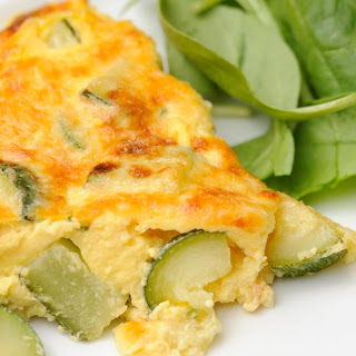 Zucchini Egg Omelet with Mushrooms