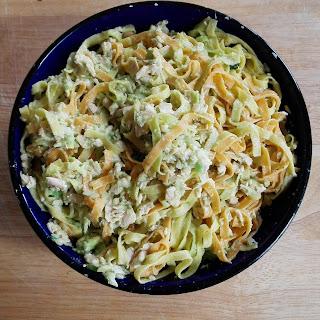 Pasta with Salmon and Avocado