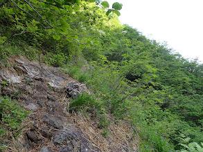 岩場のヘツリ