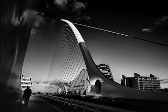 Photo: Samuel Beckett Bridge  The architect Santiago Calatrava  #santiagocalatrava  #bridge  #bridgesaroundtheworld  #Dublin  #Ireland  #irelandphotography