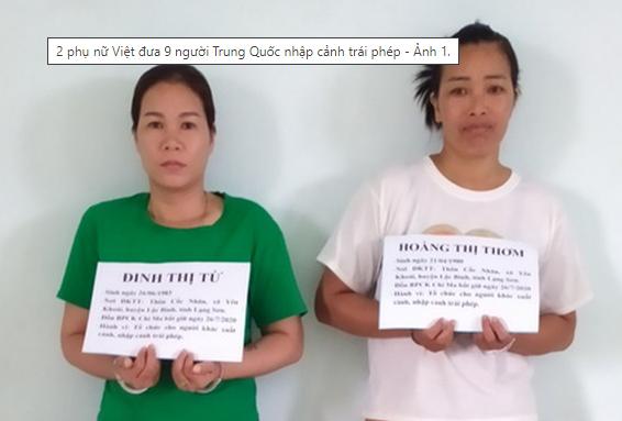 Khởi tố hình sự 2 phụ nữ Việt đưa 9 người TQ nhập cảnh trái phép