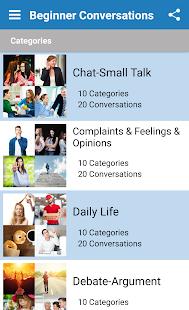 English Speaking Practice Screenshot