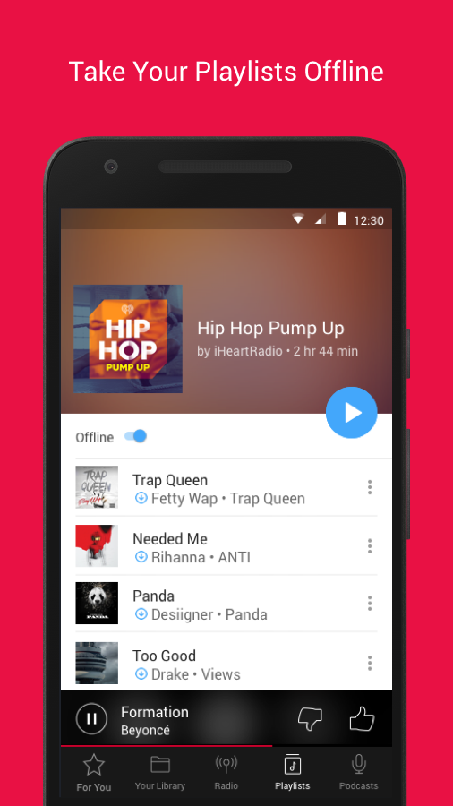 how to download music from iheartradio android
