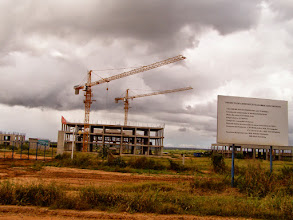 Photo: Chinese construction site in the middle of nowhere!! Chinese are everywhere!!!!