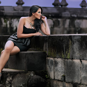 Sexy at a Temple by Sony Harsono - People Portraits of Women