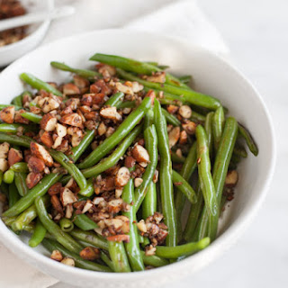 Green Beans with Almonds, Shallots and Garlic.