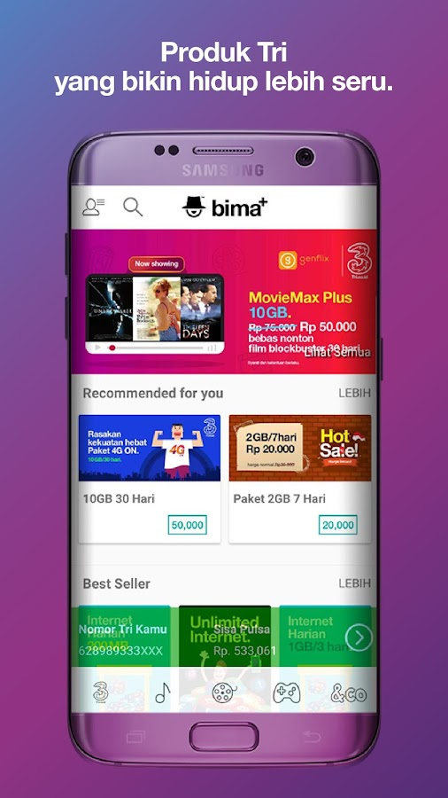 bima+- screenshot