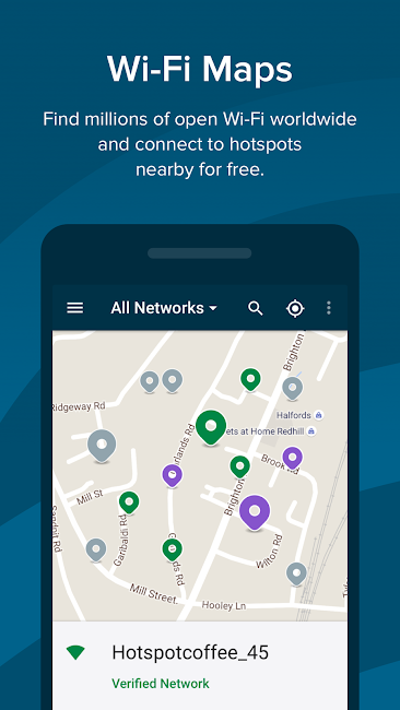 #4. Free WiFi - Wiman (Android)