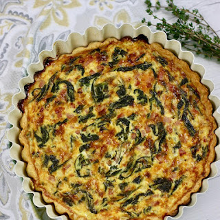 Ham Cheddar Spinach Quiche Recipe