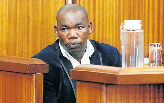 Luthando Siyoni in court at a previous appearance in November 2016