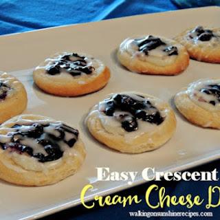 Easy Cream Cheese Danish Recipe with Crescent Rolls.