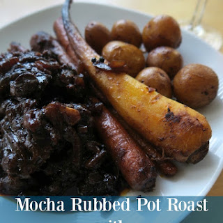 Mocha Rubbed Pot Roast with Balsamic Blueberry Sauce