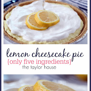 Easy Lemon Cheesecake Pie