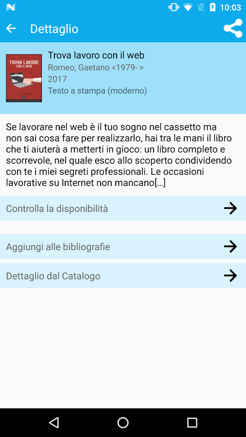 CNRBiblio- screenshot