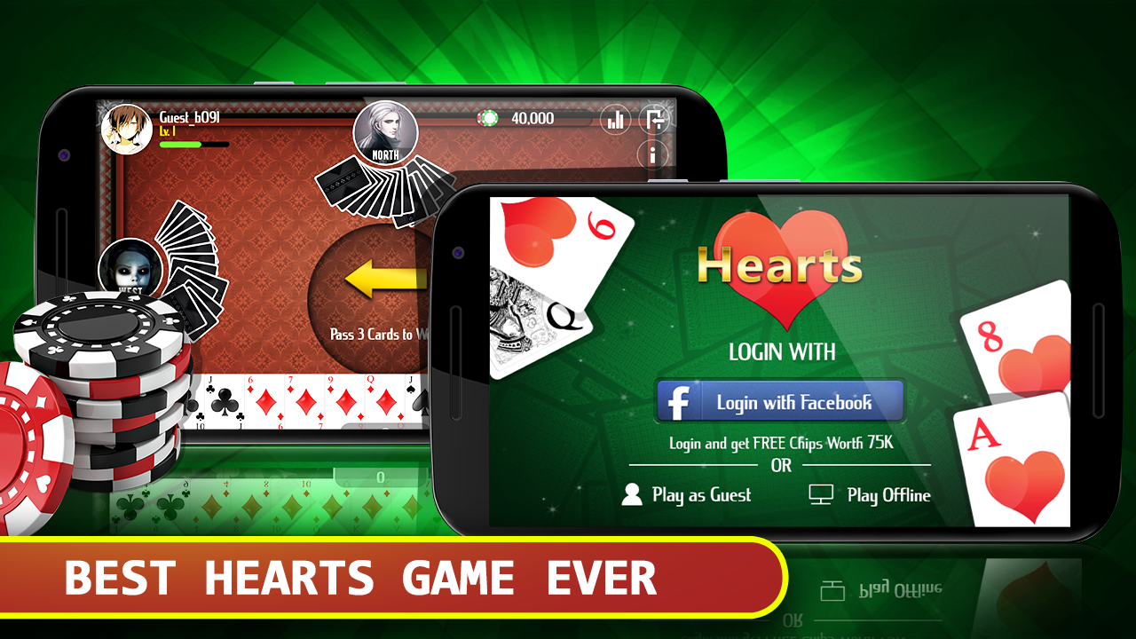 hearts card game free android apps on google play