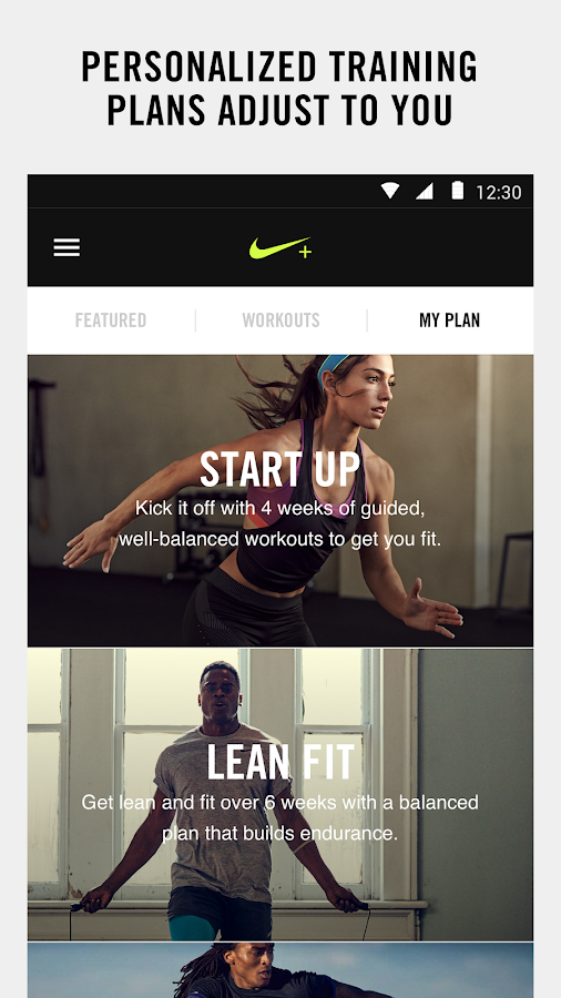 Nike+ Training Club- screenshot
