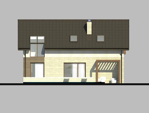 LIM House 05 - Elewacja tylna